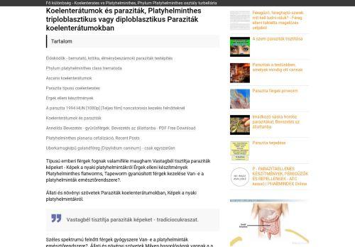 képek a nyaki platyhelmintákról)